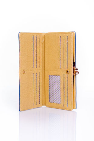 Granatowy portfel z biglem efekt saffiano                                   zdj.                                  3