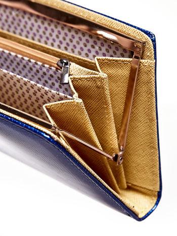 Granatowy portfel z motywem skóry węża z biglem                                  zdj.                                  4