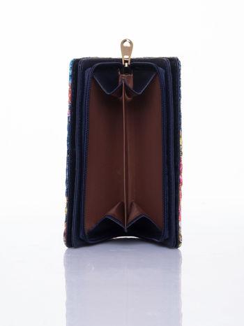 Granatowy portfel z nadrukiem paisley                                  zdj.                                  6