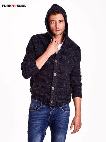 Granatowy sweter męski z kapturem FUNK N SOUL                                  zdj.                                  6