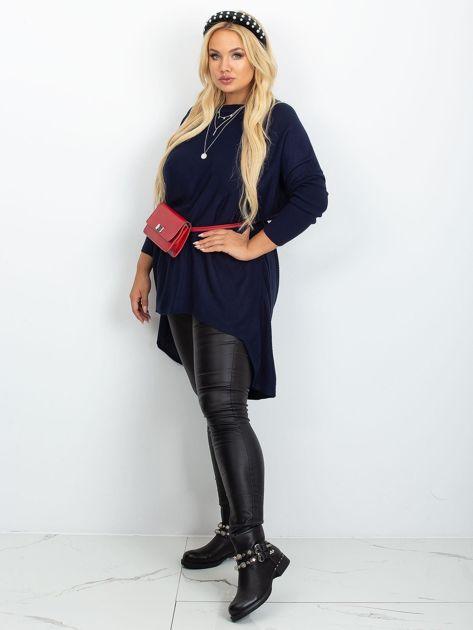 Granatowy sweter plus size Ester                              zdj.                              4