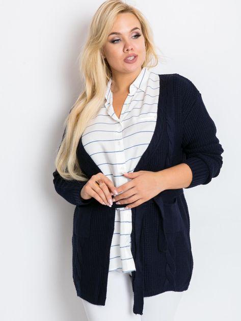 Granatowy sweter plus size Fluent                              zdj.                              1