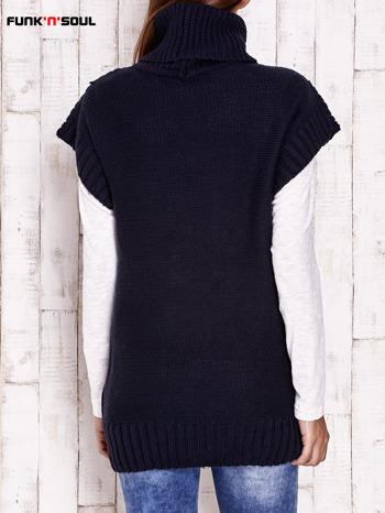 Granatowy sweter z golfem FUNK N SOUL                                  zdj.                                  4