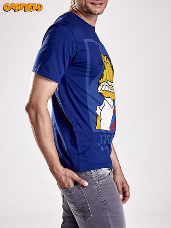 Granatowy t-shirt męski GARFIELD                                  zdj.                                  4