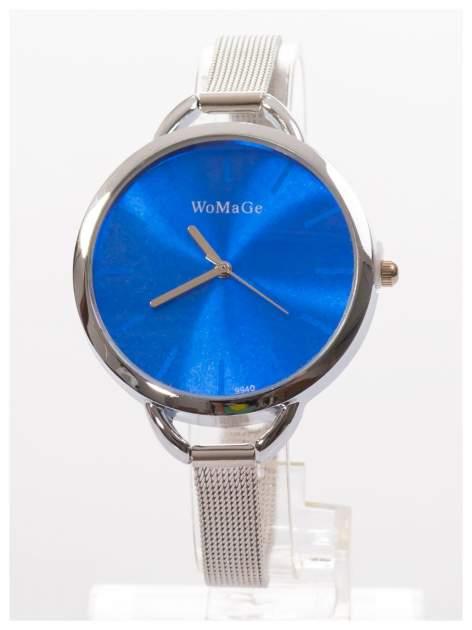 Granatowy zegarek damski na bransolecie