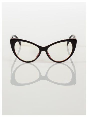 HIT 2016 Modne okulary zerówki KOCIE OCZY w stylu Marlin Monroe- soczewki ANTYREFLEKS+system FLEX na zausznikach                                  zdj.                                  3