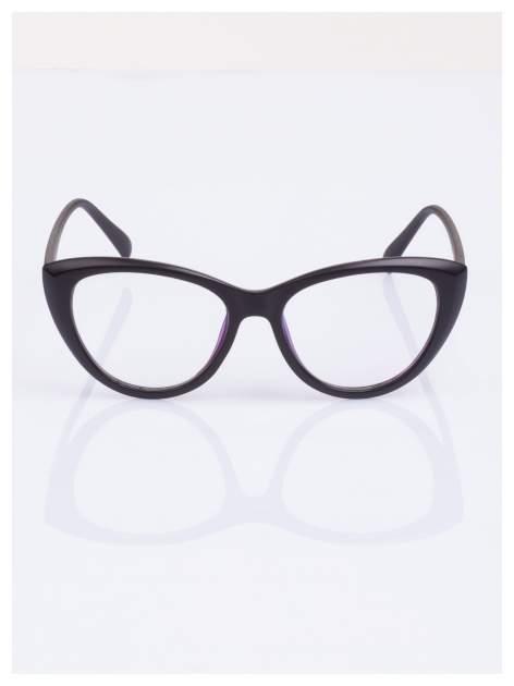 HIT 2016 Modne okulary zerówki typu KOCIE OCZY w stylu Marlin Monroe- soczewki ANTYREFLEKS