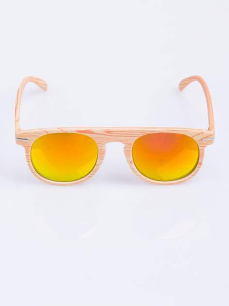 HIT 2016 drewniane okulary RETRO lustrzanka                                  zdj.                                  2