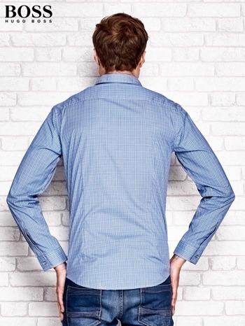 HUGO BOSS Niebieska koszula męska w kolorową kratkę                                  zdj.                                  3