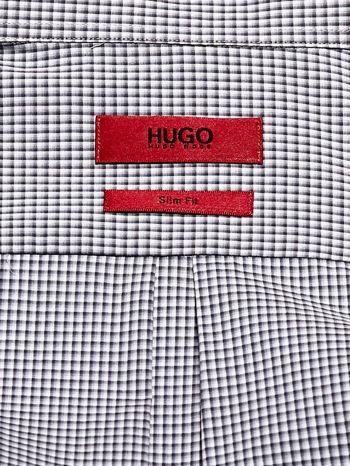 HUGO BOSS Szara koszula męska w kratkę                                  zdj.                                  4