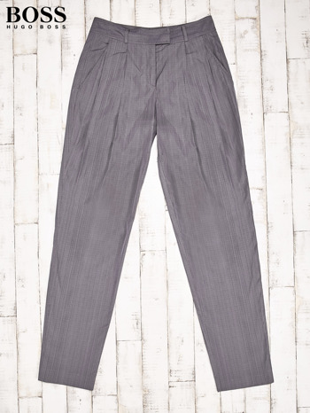 HUGO BOSS Szare eleganckie spodnie męskie
