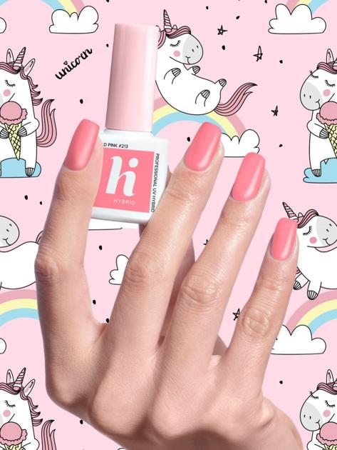 Hi Hybrid Lakier hybrydowy Unicorn nr 213 Mild Pink 5 ml