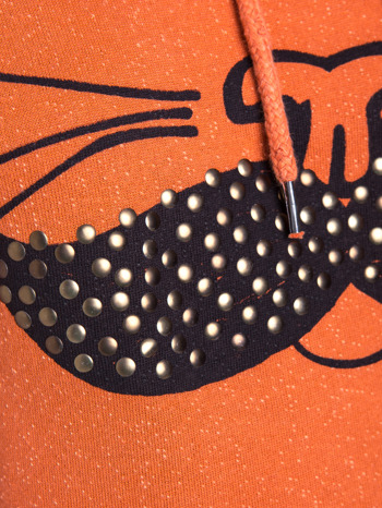 """""""HipsterCat' Pomarańczowa bluza z nadrukiem kota                                  zdj.                                  6"""