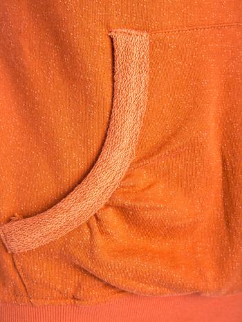 """""""HipsterCat' Pomarańczowa bluza z nadrukiem kota                                  zdj.                                  7"""