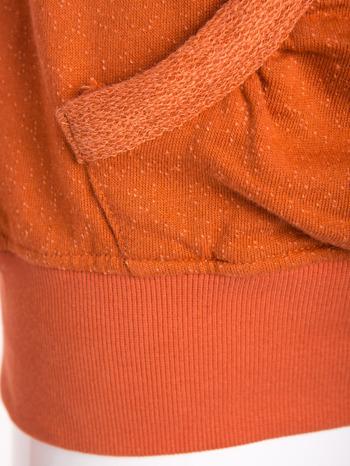 """""""HipsterCat' Pomarańczowa bluza z nadrukiem kota                                  zdj.                                  8"""