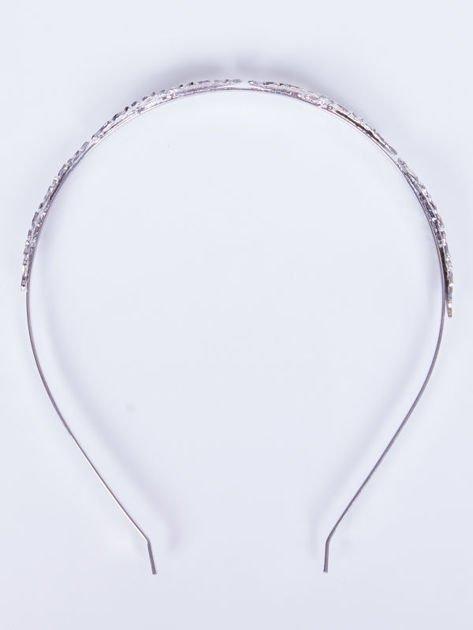 INCA Metalowa ozdobna opaska do włosów srebrna                               zdj.                              3