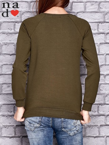 Jasna khaki bluza z naszywkami                                  zdj.                                  2