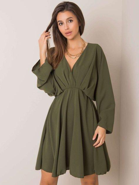 Jasna khaki sukienka Zayna