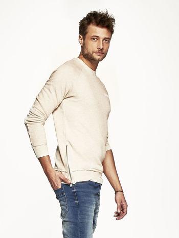 Jasnobeżowa bluza męska z suwakami                                  zdj.                                  3