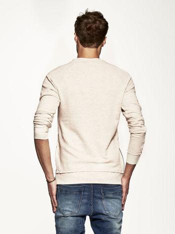 Jasnobeżowa bluza męska z suwakami                                  zdj.                                  4