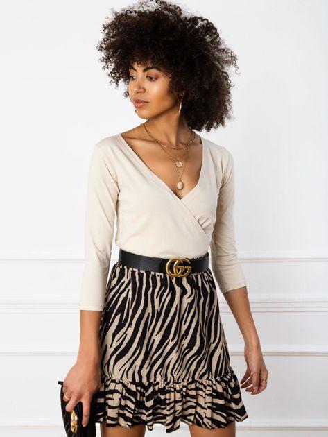 Jasnobeżowa bluzka Elysa