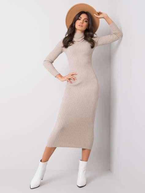 Jasnobeżowa sukienka Wendy OCH BELLA