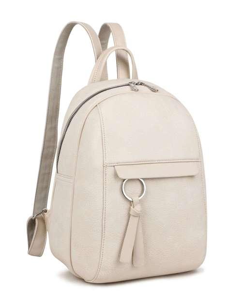 Jasnobeżowy plecak damski LUIGISANTO
