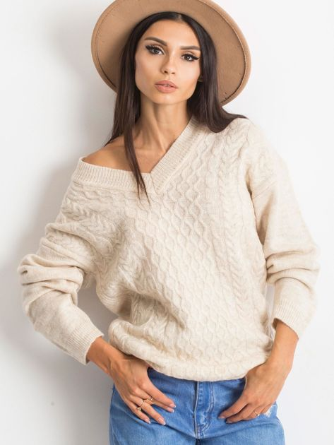 Jasnobeżowy sweter Chill                              zdj.                              5