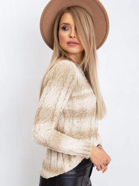 Jasnobeżowy sweter Hana                              zdj.                              3