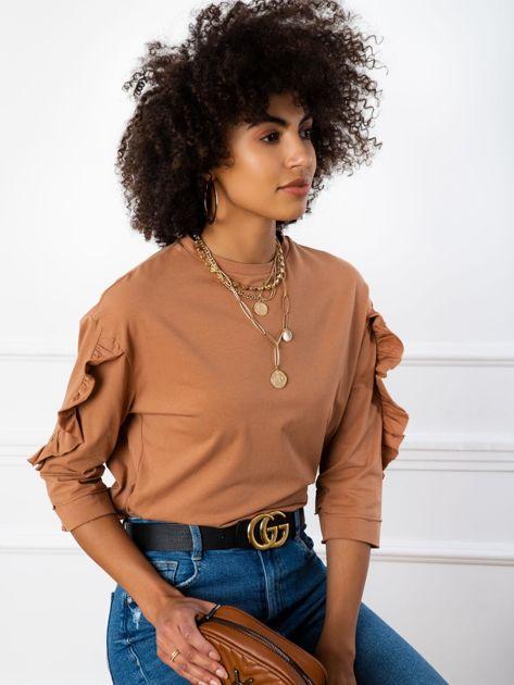 Jasnobrązowa bluzka Sarah