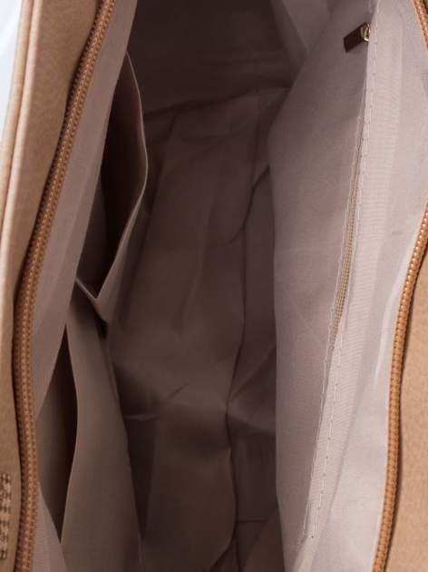 Jasnobrązowa prosta torba shopper bag                                  zdj.                                  5
