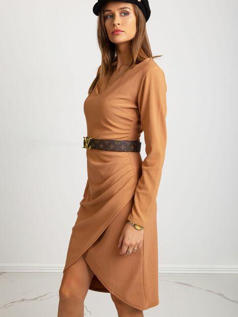 Jasnobrązowa sukienka Fireside                              zdj.                              1