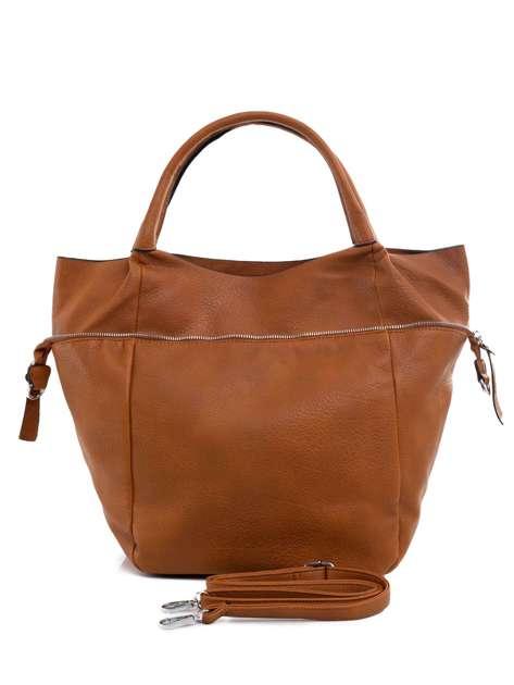 Jasnobrązowa torba shopper