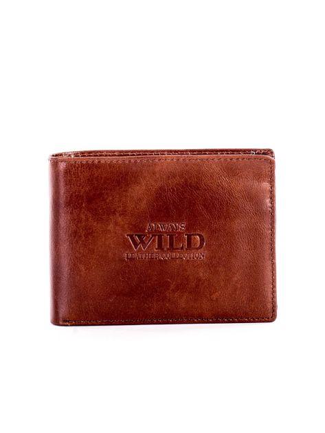 Jasnobrązowy miękki skórzany portfel dla mężczyzny