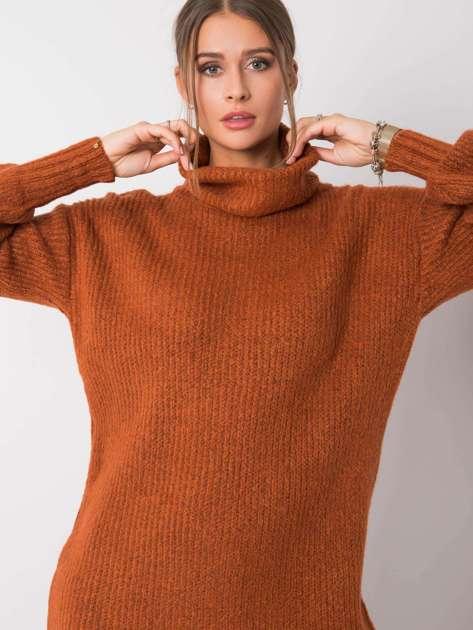 Jasnobrązowy sweter Ashanti RUE PARIS