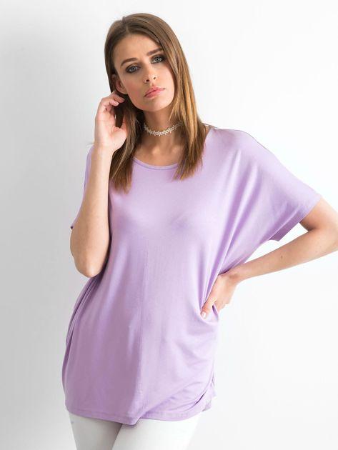 Jasnofioletowa bluzka Oversize                              zdj.                              1