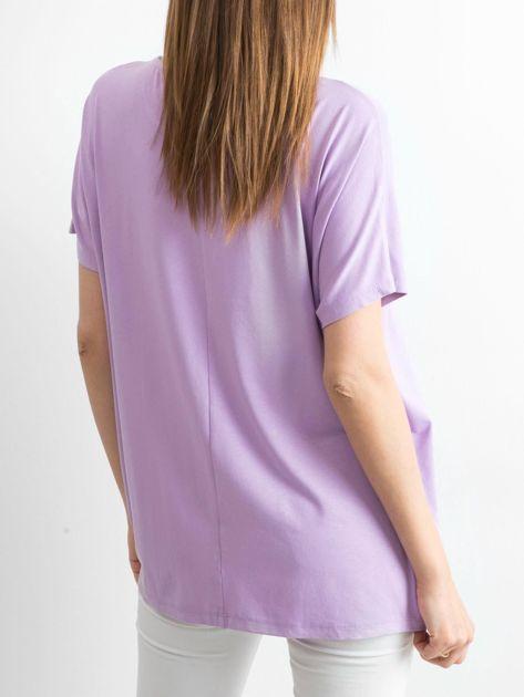 Jasnofioletowa bluzka Oversize                              zdj.                              2