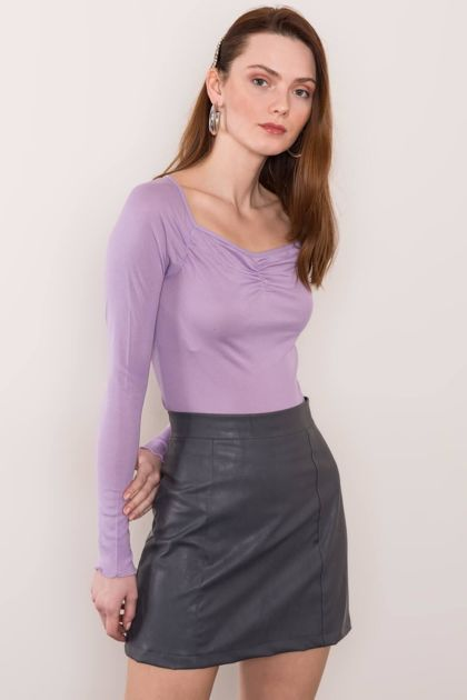 Jasnofioletowa damska bluzka BSL