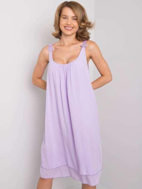 Jasnofioletowa sukienka z wiskozy Rosine OCH BELLA