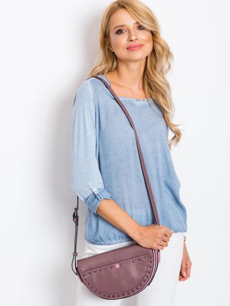 Jasnofioletowa torebka saddle bag