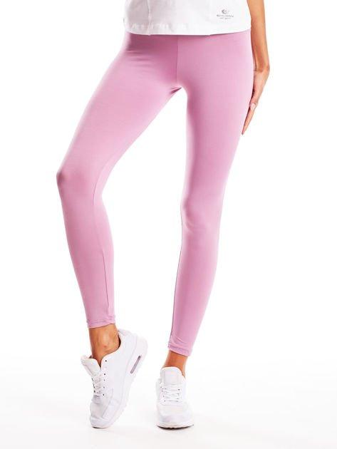 Jasnofioletowe długie cienkie legginsy do biegania                              zdj.                              1