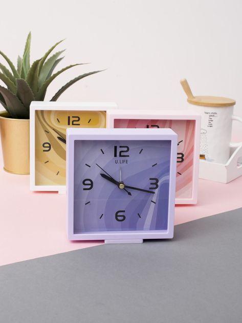 Jasnofioletowy kwadratowy zegarek                              zdj.                              4