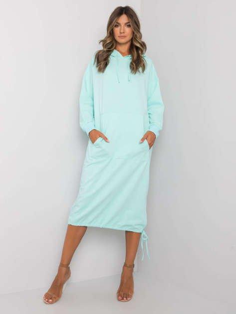 Jasnomiętowa sukienka dresowa Camryn