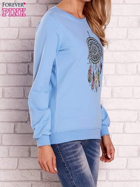 Jasnoniebieska bluza z nadrukiem łapacza snów                                  zdj.                                  3