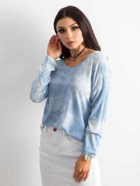 Jasnoniebieska bluzka damska z długim rękawem                              zdj.                              3