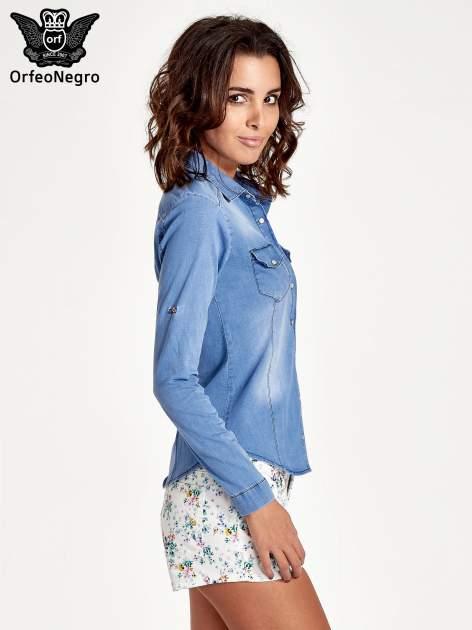 Jasnoniebieska jeansowa koszula z cieniowaniem                                  zdj.                                  3