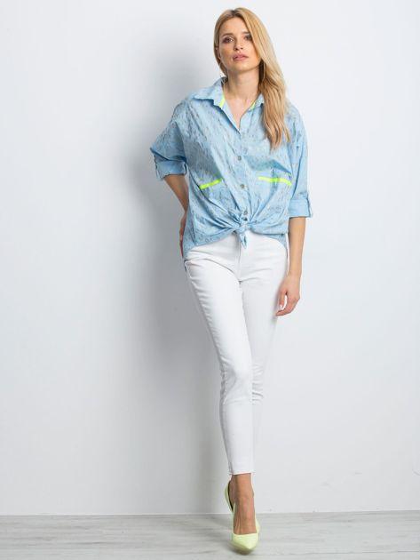 Jasnoniebieska koszula Stylish                              zdj.                              4