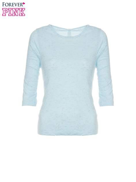 Jasnoniebieska melanżowa bluzka z rękawami 3/4                                  zdj.                                  5