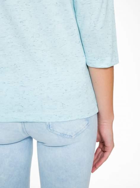 Jasnoniebieska melanżowa bluzka z rękawami 3/4                                  zdj.                                  9