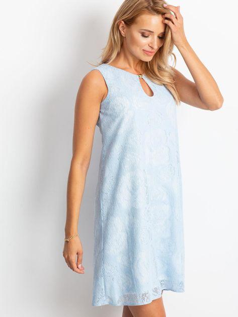 Jasnoniebieska sukienka Give                              zdj.                              1